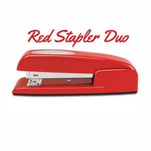 Red Stapler Duo
