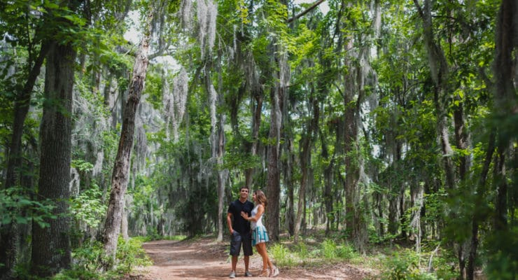 Romance and exploration bloom under the Spanish moss at First Landing State Prk
