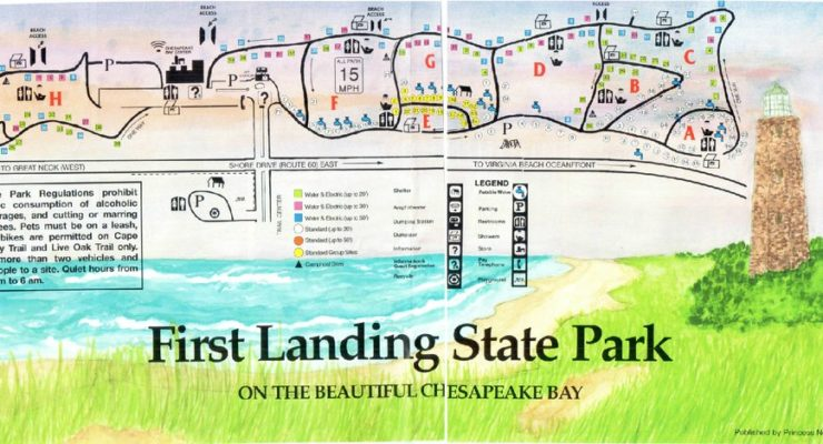 A Map to First Landing State Park
