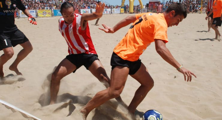 The Annual North American Sand Soccer Tournament is held in Virginia beach