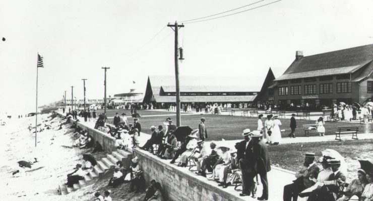 The Virginia Beach Boardwalk as it appeared in 1912
