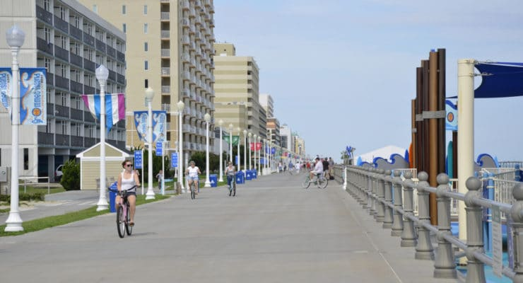 The Virginia Beach Boardwalk as it appears today
