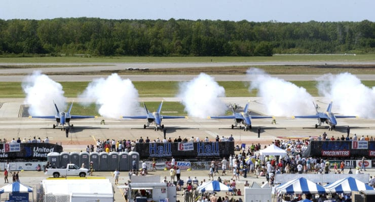 The Blue Angels at Oceana Naval Air Staion