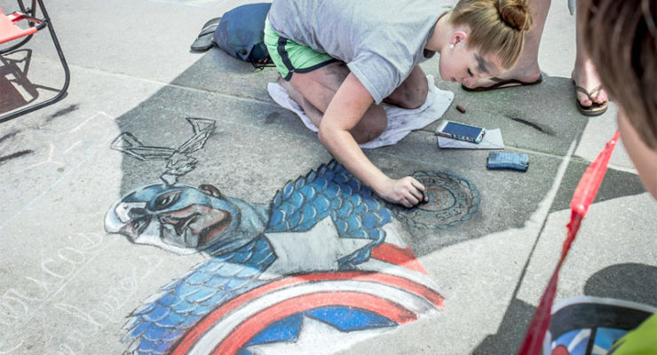 Chalk the Walk ARTsplosion in Virginia Beach is a hit with kids and adults