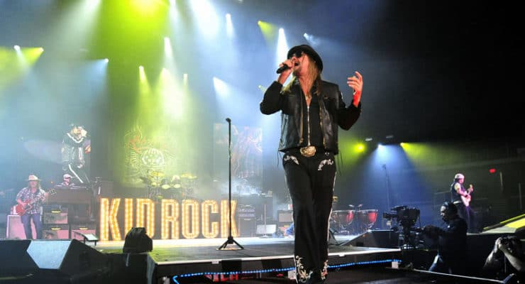 Kid Rock plays in the Virginia Beach Amphitheater in 2015
