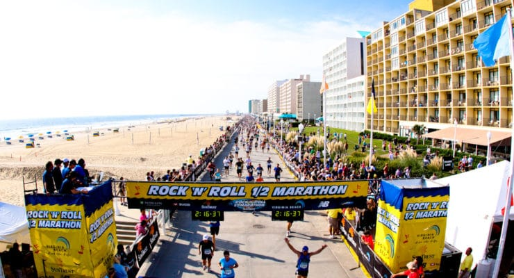 Some people compete and others are just running for fun. The Rock N Roll Half Marathon is a great end of summer event
