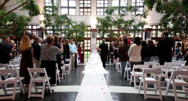 The Virginia Beach Contemporaary Art Center hosts some of the most beautiful weddings you will ever see. Indoor trees and exquisite art are all around to make the perfect environment