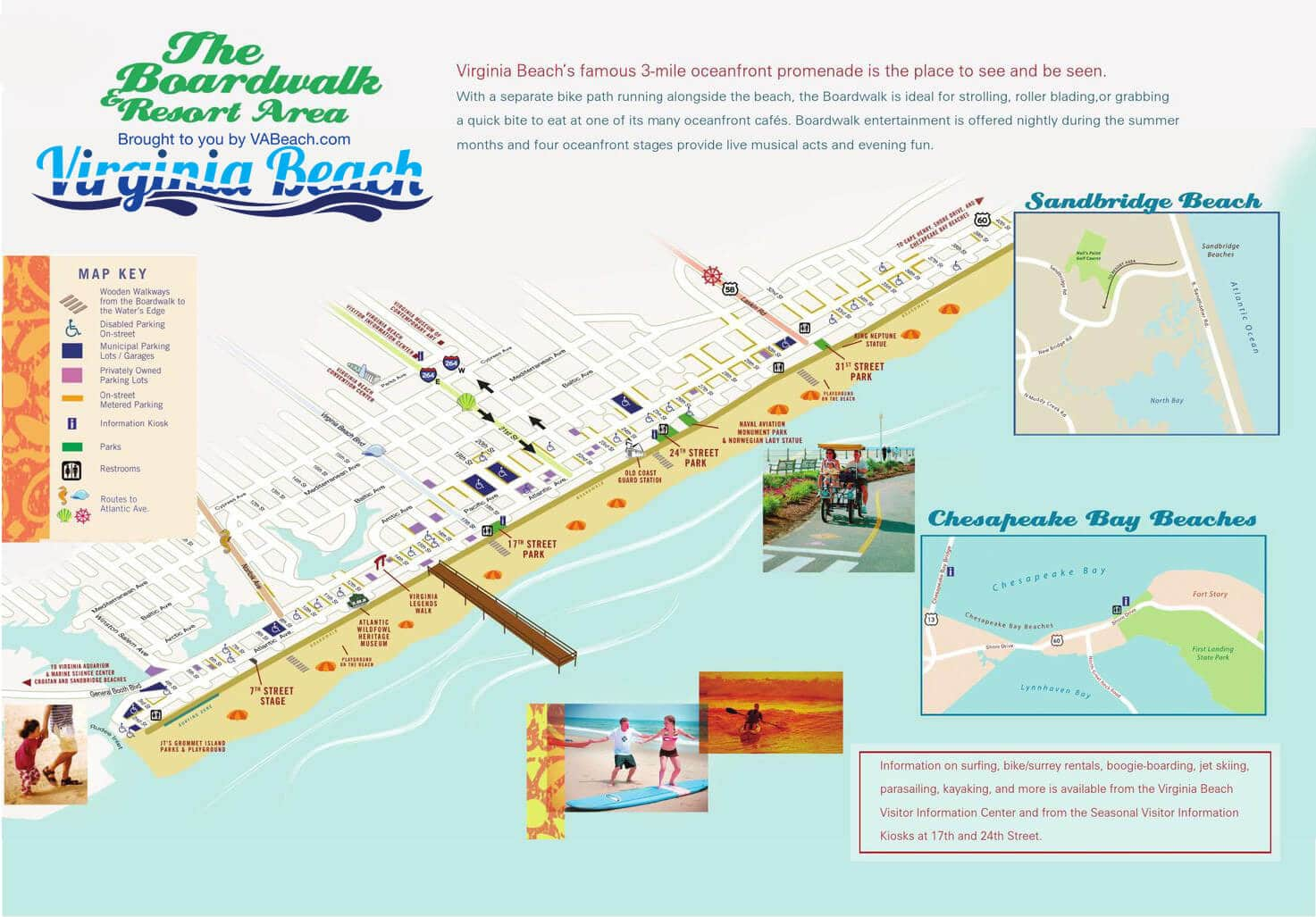 Resort Area Oceanfront Map Virginia Beach VA