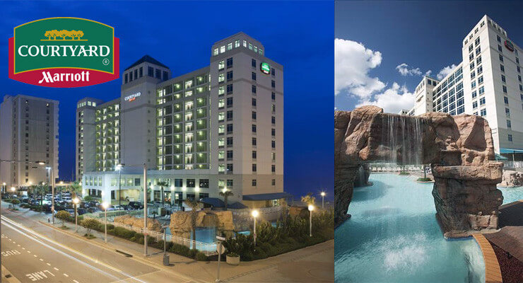 Courtyard By Marriott North and one of the best pools at the oceanfront!