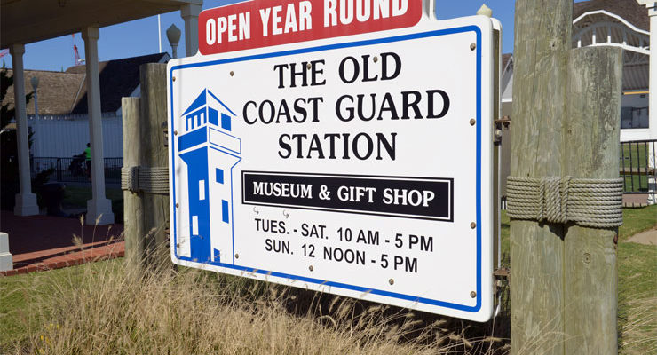 Old Coast Guard Stationis located right next to the Boardwalk at 24th Street