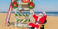 Santa on beach